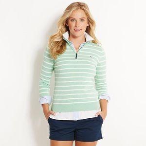 Vineyard Vines Green Striped Pullover Sweater XXS